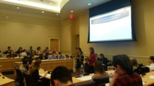 Alison Armstrong and Abbey Widick address the House (Cole Polley, TCU360)