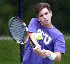 TCU's Cameron Norrie practices at the Bayard H. Friedman Tennis Center. (Photo credit: Max Faulkner/Fort Worth Star-Telegram.)