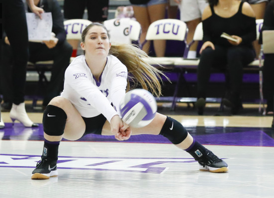 TCU Volleyball was swept by the Baylor Bears Saturday. (Photo courtesy of gofrogs.com)
