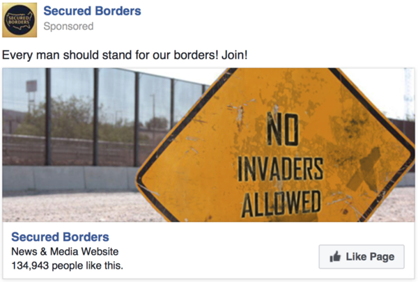 Every man should stand for our borders! Join!